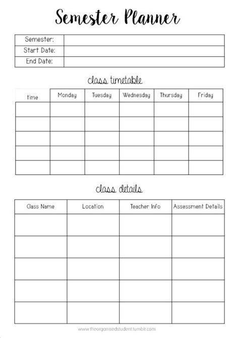 student planner template  printable printable