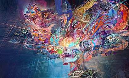 Trippy Abstract Windows 4k Psychedelic Wallpapers Colorful