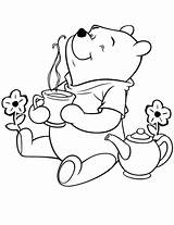 Pooh Coloring Winnie Printable Disney Bear Worksheet Number Tea Coloriage Worksheets Colouring Zum Dibujos Honey Sheets Colorear Cartoon Abc Malvorlagen sketch template