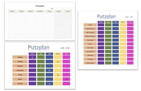 putzplan vorlage familie schule wg kostenlos downloaden