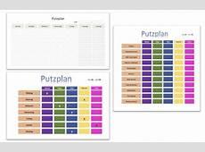 Putzplan Vorlage Familie, Schule, WG kostenlos downloaden