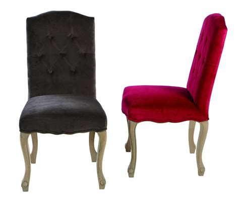 chaise de chaise capitonnée en velours