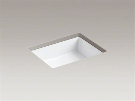 kohler verticyl rectangular undermount sink kohler verticyl r rectangular undermount bathroom sink