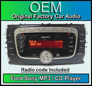 Code Autoradio Ford : ford s max cd mp3 player ford sony car stereo head unit ~ Mglfilm.com Idées de Décoration