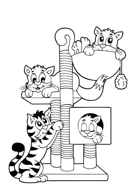 Kleurplaat Kttens by Kleurplaat Poes 53 Leukste Katten En Poezen Kleurplaten