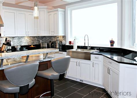 farmhouse kitchen white cabinets black countertops white kitchen cabinets 3 palettes to create a balanced