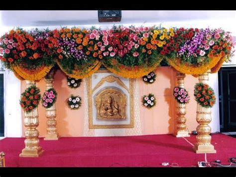 Wedding Decoration Wallpaper by Pelli Mandapam Marriage Decorations Vedika Stage