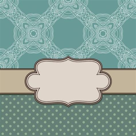 Ornament background with vintage frame vector free download