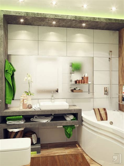 decorate small space bathrooms