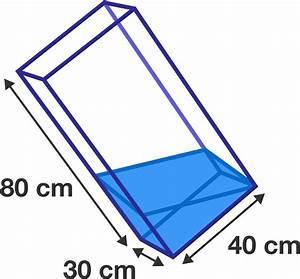 Geometry Problem  Cuboid Water Tank
