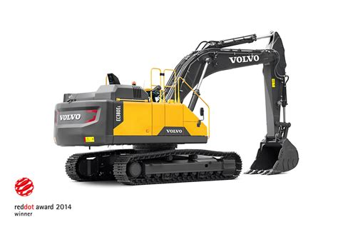 volvo ce scores hat trick  red dot awards projects