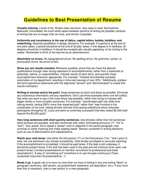 Guide To Writing Resume by Guide To Resume Writing