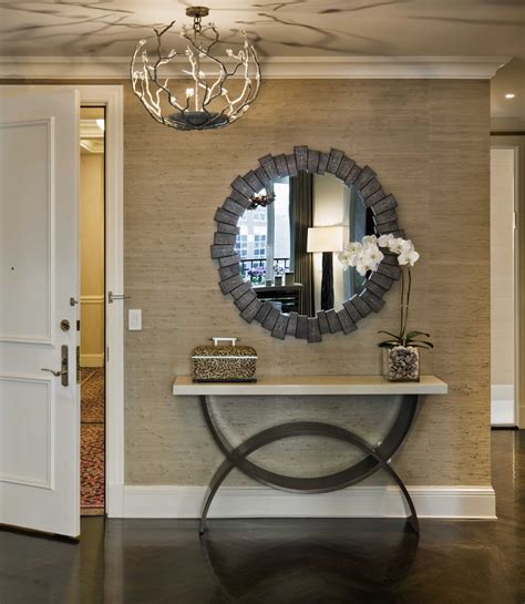 Geometric console table entry modern with front door front door entry table