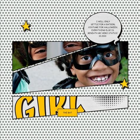 Tiffany Tillman Templates by 14 Scrapbook Layouts Inspired By Superhero And Comic Book