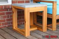 fine patio side table plans DIY Outdoor Side Table (2x4 and Concrete) | FixThisBuildThat
