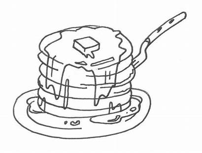 Pancake Coloring Pages Colouring Drawing Pig Give