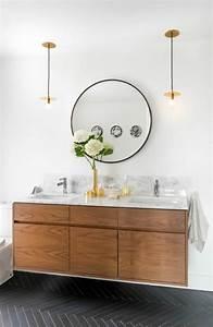 Miroir Rond Salle De Bain : le miroir salle de bain l ment cl de la d coration ~ Nature-et-papiers.com Idées de Décoration