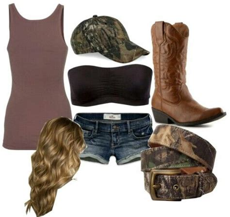 Country Style # Camo # Summer Clothes # Cowboy Boots