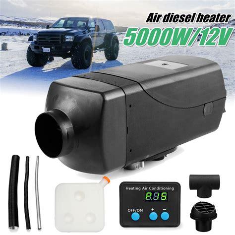 tank heater silencer digital diesels 12v 5kw 10l parking switch trucks air fans
