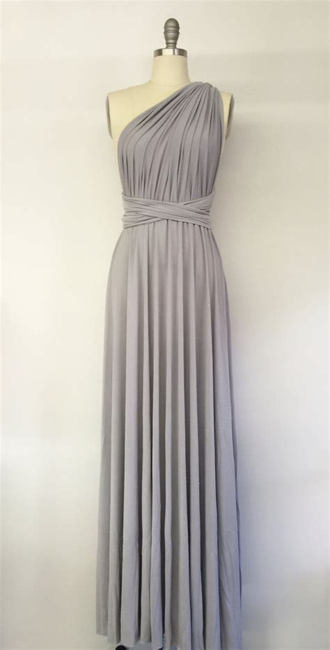 light grey bridesmaid dresses long silver light grey long maxi infinity dress gown by atomattire