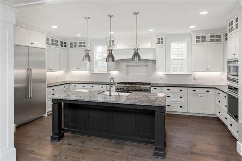 quartz  granite stainless  black  kitchen