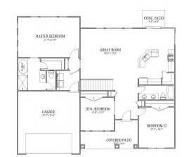 simple open floor plans simple home addition plans cottage house plans