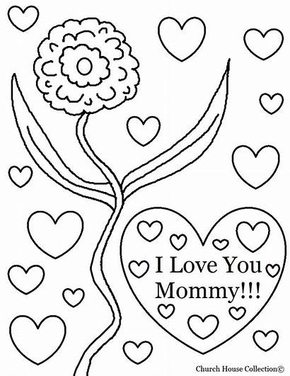 Coloring Mom Pages Printable Teenagers Mommy Thank
