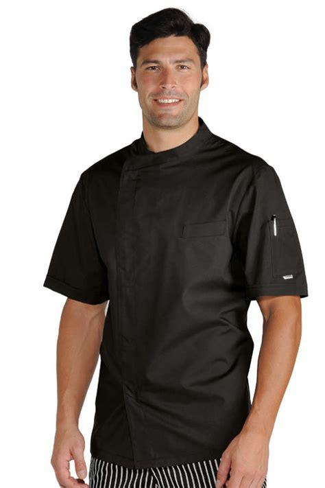 vetement de cuisine professionnel pas cher veste chef cuisinier noir tissu ultra léger vestes de