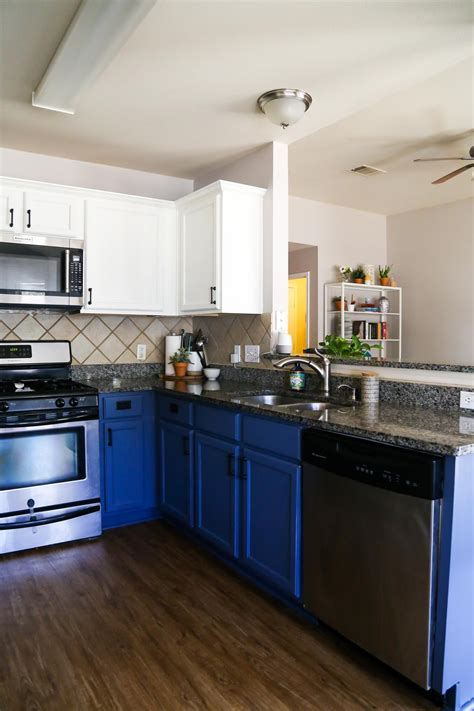 blue white kitchen cabinets love renovations