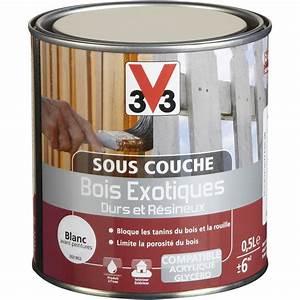 Peinture Glycero Bois Exterieur : sous couche bois exotique blanc v33 0 5 l leroy merlin ~ Melissatoandfro.com Idées de Décoration