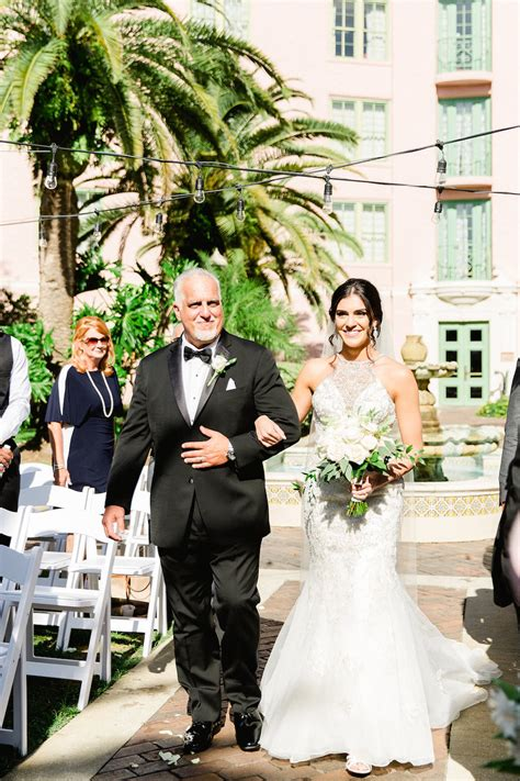 Bride Walking Down the Aisle with Father Ceremony Portrait