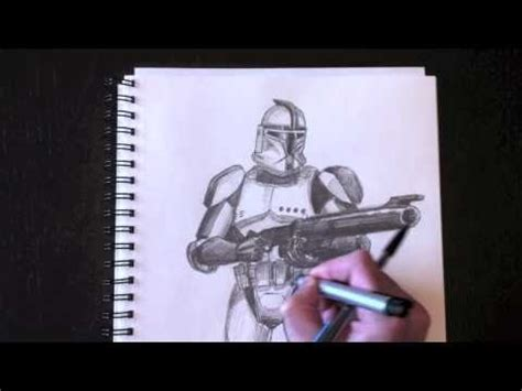 dessiner  clone trooper avec paolo morrone youtube