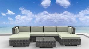 Urban furnishing maui 7pc outdoor sectional sofa set for Sectional sofa maui