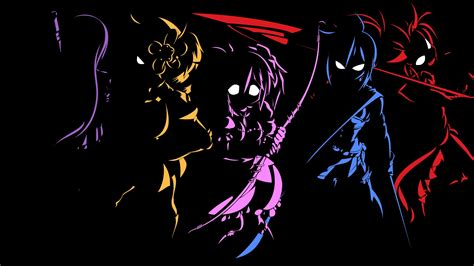 Anime Character Wallpaper - black anime character 10 background hdblackwallpaper