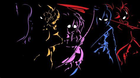 black anime character  background hdblackwallpapercom