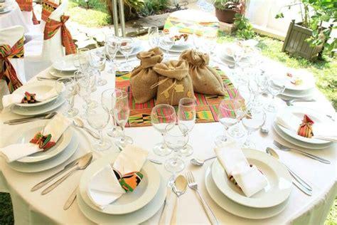 chaise africaine deco de table pour mariage africain déco