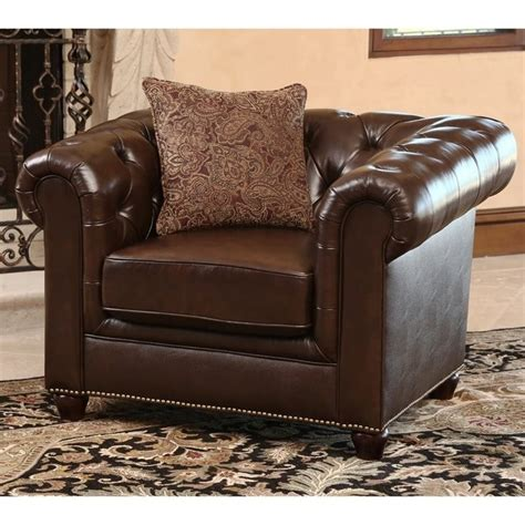 slipcovered swivel chair abbyson living alexandra leather arm chair in brown sk 2326