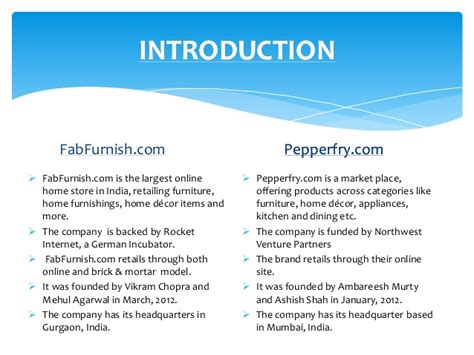 competitive analysis  fabfurnish  pepperfry