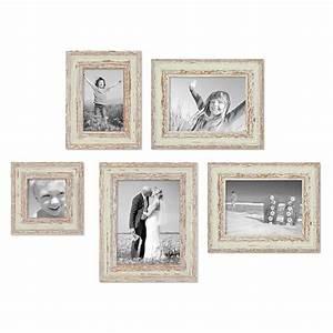 Bilderrahmen Vintage Set : 5er set vintage bilderrahmen weiss shabby chic 10x10 10x15 13x18 und 15x20 cm inkl zubeh r ~ Buech-reservation.com Haus und Dekorationen