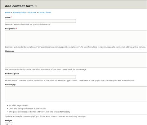 Drupal Create Custom Form by How To Make Custom Contact Form In Drupal 8
