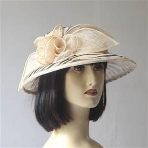 Chapeau Anglais Femme Mariage : petit chapeau femme c r monie mariage beige et noir ~ Maxctalentgroup.com Avis de Voitures