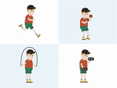 Workout Animated Animation Dribbble Fitness Motion Walk