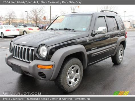black jeep liberty interior black clearcoat 2004 jeep liberty sport 4x4 dark slate