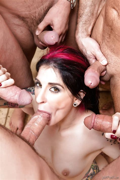 Dark Haired Babe Joanna Angel Takes On Multiple Cocks Ddf Network 1