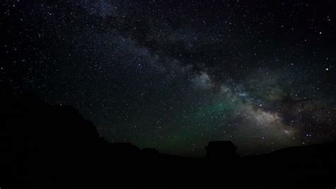 Time Lapse Of Night Sky And Milky Way Galaxy Stock Footage