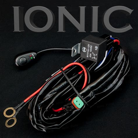40 led light bar wiring harness relay on switch