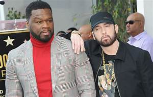 50 Cent joined by Eminem as he gets a star on the Walk of Fame