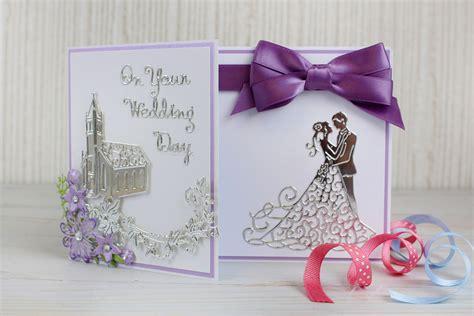 die cut wedding card hobbycraft blog