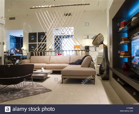 roche bobois furniture store interior nyc stock photo
