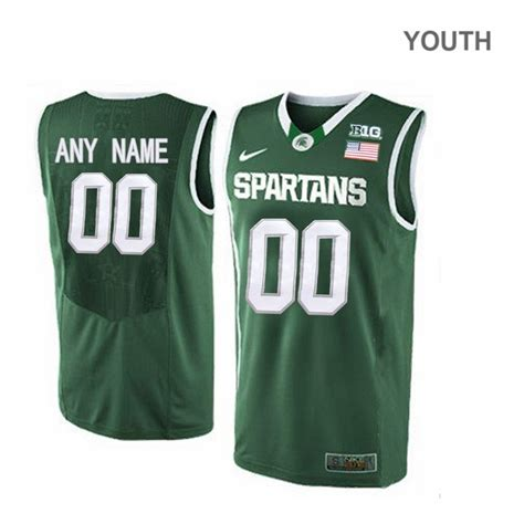 youth michigan state spartans  cassius winston elite green basketball jersey